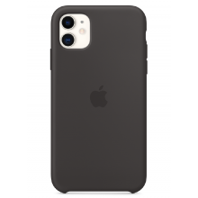 Чехол Apple Silicone Case (High Copy) - Black (Чёрный) для iPhone 11