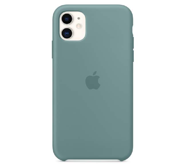 Чехол Apple Silicone Case (High Copy) - Cactus (Дикий кактус) для iPhone 11