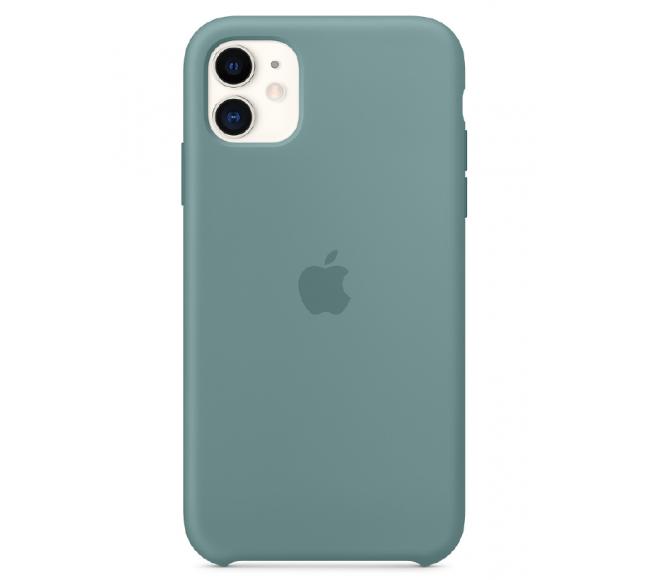 Чехол Apple Silicone Case (High Copy) - Cactus (Дикий кактус) для iPhone 11