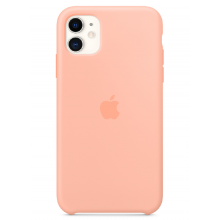 Чехол Apple Silicone Case (High Copy) - Grapefruit (Розовый грейпфрут) для iPhone 11