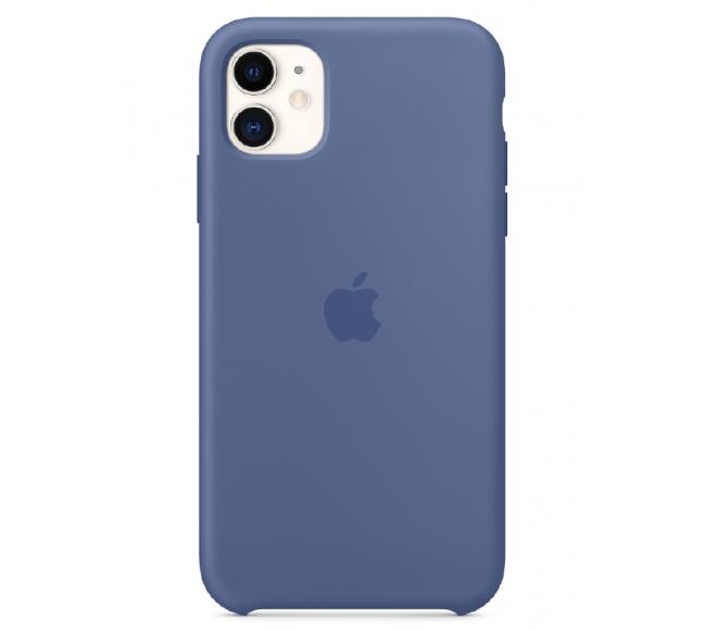 Чехол Apple Silicone Case (High Copy) - Linen Blue (Cиний лён) для iPhone 11