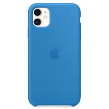 Чехол Apple Silicone Case (High Copy) - Surf Blue (Cиняя волна) для iPhone 11