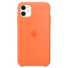 Чехол Apple Silicone Case (High Copy) - Vitamin C (Оранжевый витамин) для iPhone 11
