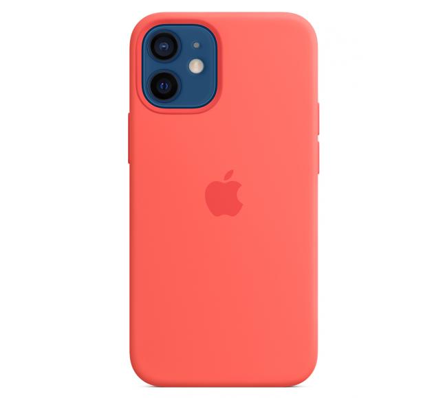 Чехол Apple Silicone Case (High Copy) - Pink Citrus (Розовый цитрус) для iPhone 12 Mini