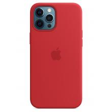 Чехол Apple Silicone Case (High Copy) - (PRODUCT)RED (Красный) для iPhone 12 Pro Max