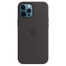 Чехол Apple Silicone Case (High Copy) - Black (Черный) для iPhone 12 Pro Max