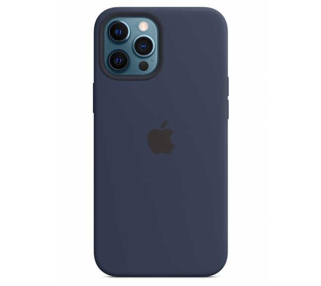 Чехол Apple Silicone Case (High Copy) - Deep Navy (Синий) для iPhone 12 Pro Max