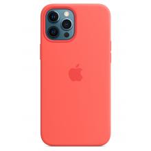 Чехол Apple Silicone Case (High Copy) - Pink Citrus (Розовый цитрус) для iPhone 12 Pro Max