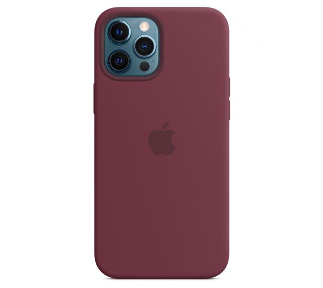 Чехол Apple Silicone Case (High Copy) - Plum (Бордовый) для iPhone 12 Pro Max