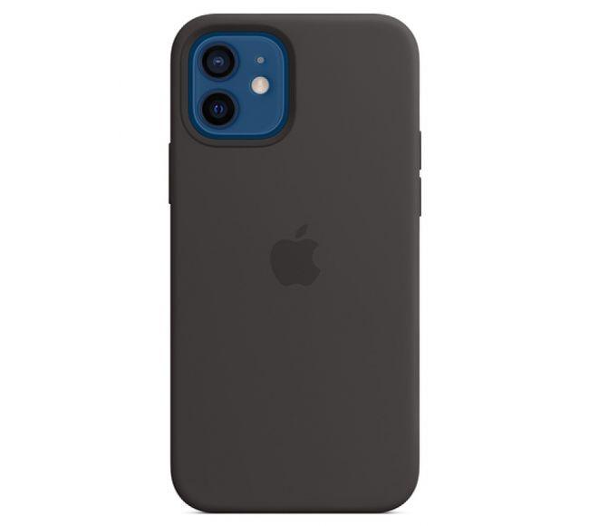 Чехол Apple Silicone Case (High Copy) - Black (Чёрный) для iPhone 12 и 12 Pro