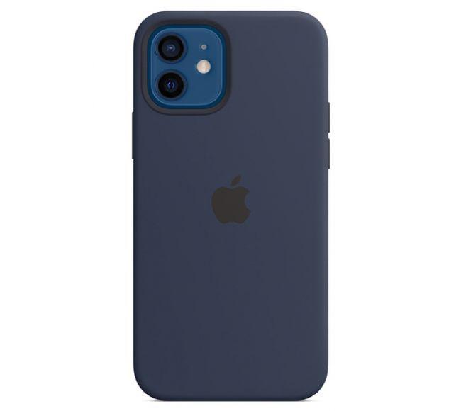 Чехол Apple Silicone Case (High Copy) - Deep Navy (Синий) для iPhone 12 и 12 Pro
