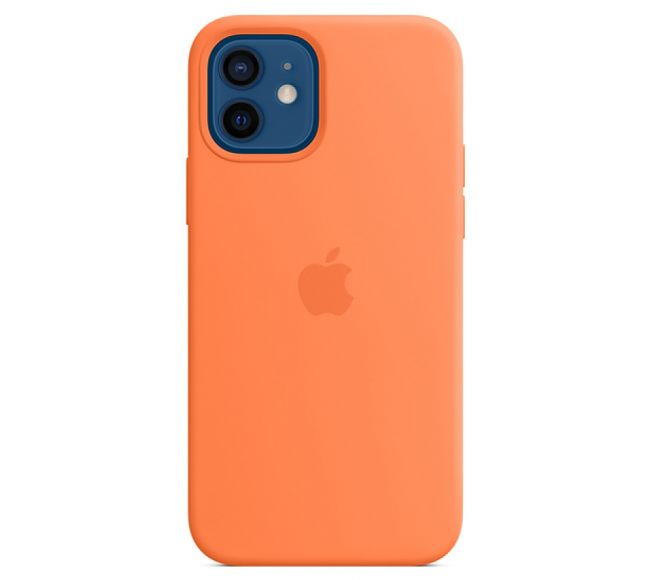 Чехол Apple Silicone Case (High Copy) - Kumquat (Оранжевый) для iPhone 12 и 12 Pro