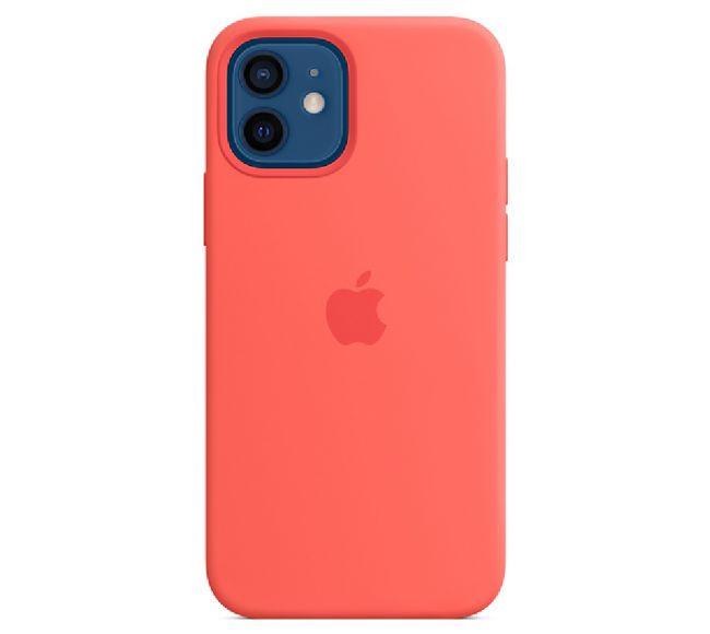 Чехол Apple Silicone Case (High Copy) - Pink Citrus (Розовый цитрус) для iPhone 12 и 12 Pro