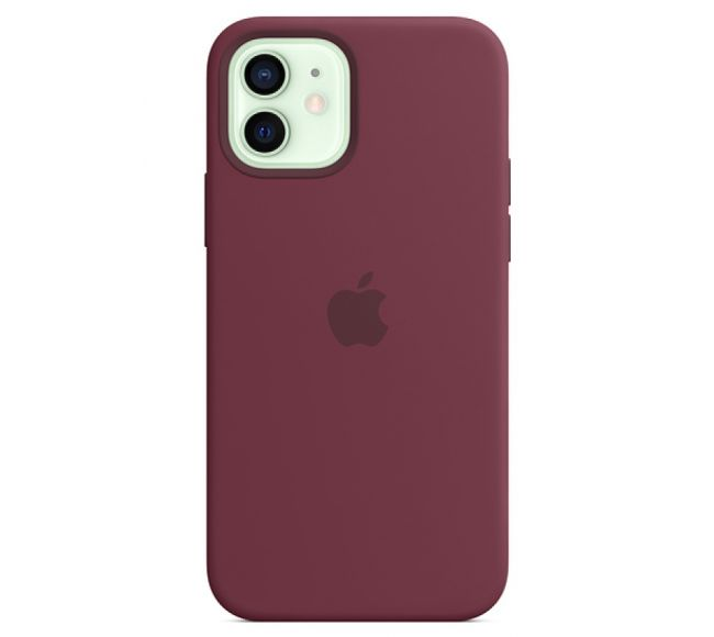 Чехол Apple Silicone Case (High Copy) - Plum (Бордовый) для iPhone 12 и 12 Pro