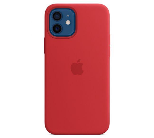 Чехол Apple Silicone Case (High Copy) - (PRODUCT)RED (Красный) для iPhone 12 и 12 Pro