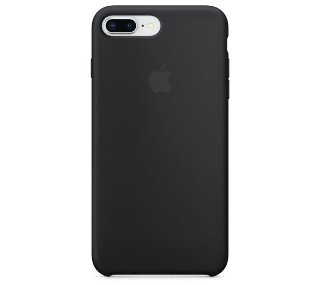 Чехол Apple Silicone Case (High Copy) - Black (Чёрный) для iPhone 8 Plus, 7 Plus