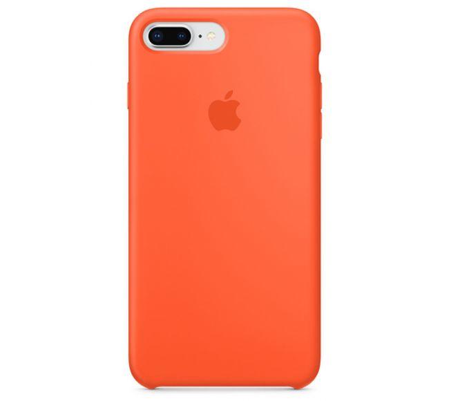Чехол Apple Silicone Case (High Copy) - Orange saffron (Апельсин-шафран) для iPhone 8 Plus, 7 Plus