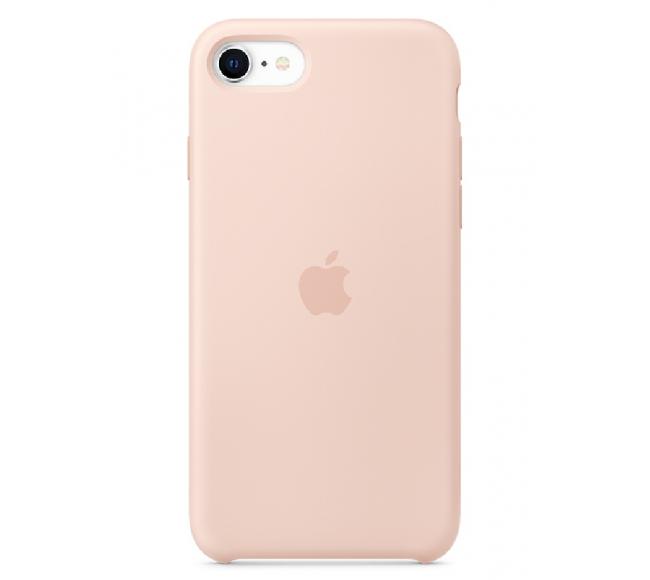 Чехол Apple Silicone Case (High Copy) - Pink Sand (Розовый песок) для iPhone SE 2020