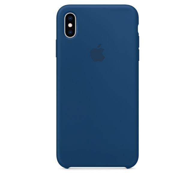 Чехол Apple Silicone Case (High Copy) - Blue Horizon (Голубой горизонт) для iPhone XS Max