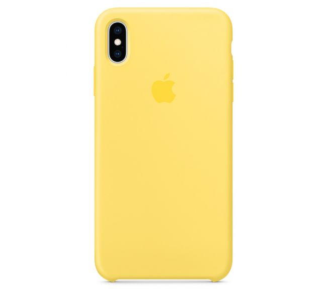 Чехол Apple Silicone Case (High Copy) - Canary (Канарейка) для iPhone XS