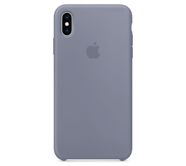 Чехол Apple Silicone Case (High Copy) - Lavender Grey (Лавандово-серый) для iPhone XS Max