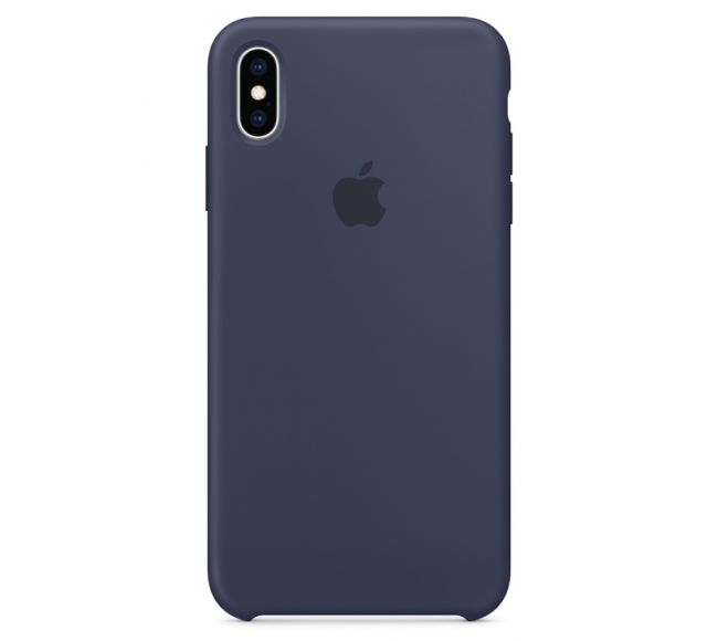 Чехол Apple Silicone Case (High Copy) - Midnight Blue (Темно-синий) для iPhone XS Max