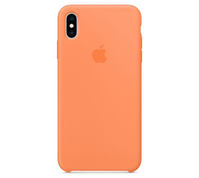 Чехол Apple Silicone Case (High Copy) - Papaya (Папайя) для iPhone XS
