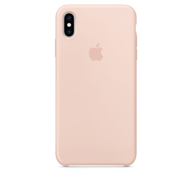 Чехол Apple Silicone Case (High Copy) - Pink Sand (Розовый песок) для iPhone XS