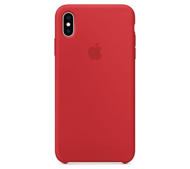 Чехол Apple Silicone Case (High Copy) - (PRODUCT)RED (Красный) для iPhone XS Max