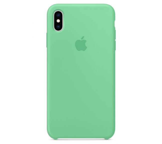 Чехол Apple Silicone Case (High Copy) - Spearmint (Мятный) для iPhone XS