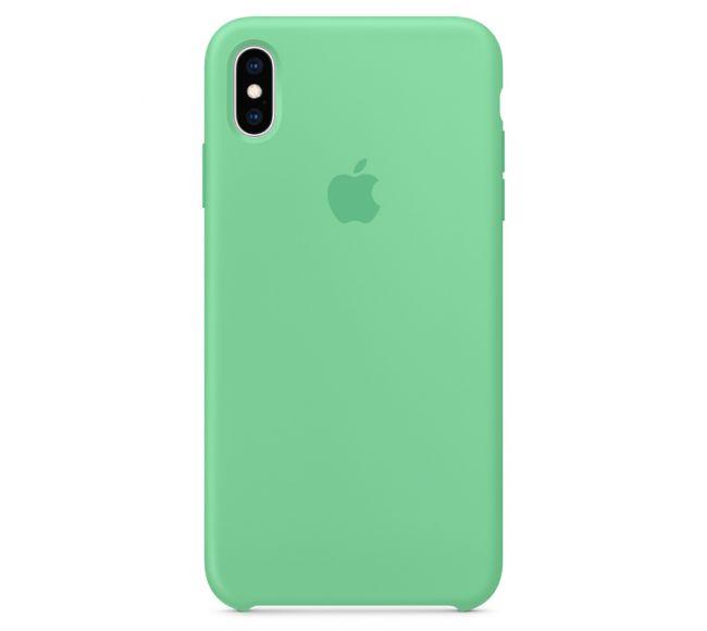 Чехол Apple Silicone Case (High Copy) - Spearmint (Мятный) для iPhone XS
