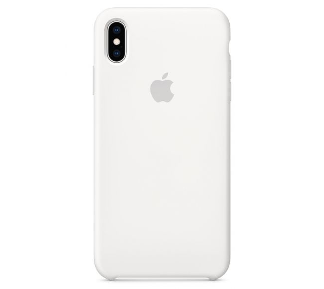 Чехол Apple Silicone Case (High Copy) - White (Белый) для iPhone XS