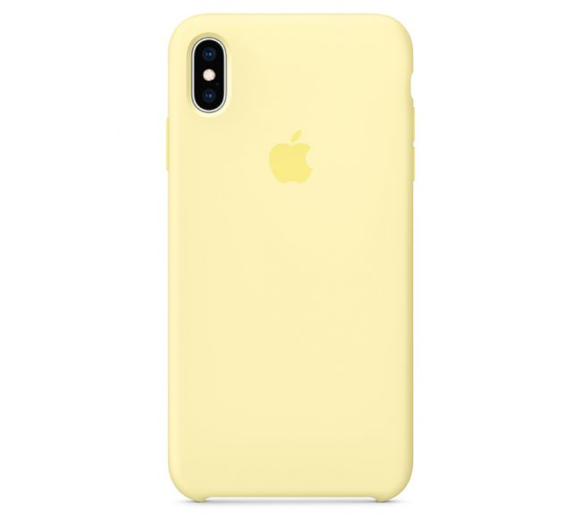 Чехол Apple Silicone Case (High Copy) - Lemon cream (Лимонный) для iPhone XS Max