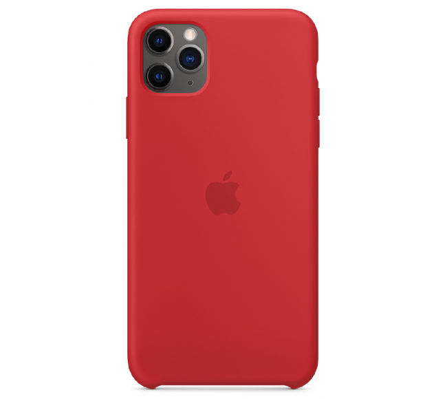 Чехол Apple Silicone Case (High Copy) - (PRODUCT)RED (Красный) для iPhone 11 Pro Max