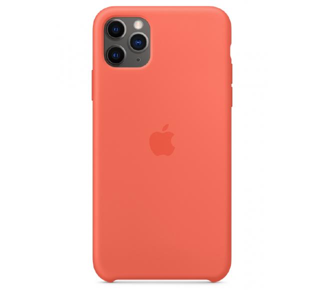 Чехол Apple Silicone Case (High Copy) - Clementine (Спелый клементин) для iPhone 11 Pro Max