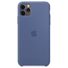 Чехол Apple Silicone Case (High Copy) - Linen Blue (Cиний лён) для iPhone 11 Pro