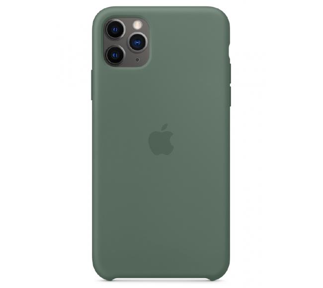 Чехол Apple Silicone Case (High Copy) - Pine Green (Сосновый лес) для iPhone 11 Pro Max