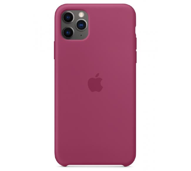 Чехол Apple Silicone Case (High Copy) - Pomegranate (Сочный гранат) для iPhone 11 Pro Max