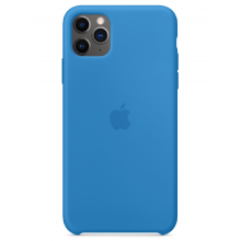 Чехол Apple Silicone Case (High Copy) - Surf Blue (Cиняя волна) для iPhone 11 Pro