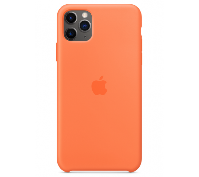 Чехол Apple Silicone Case (High Copy) - Vitamin C (Оранжевый витамин) для iPhone 11 Pro Max