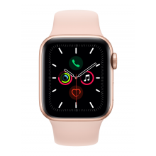 Apple Watch Series 5 GPS, 40mm Gold Aluminium Case with Pink Sand Sport Band (MWV72)