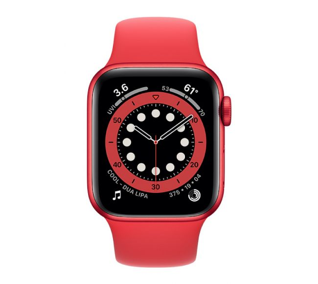 Apple Watch Series 6 GPS, 40mm PRODUCT(RED) Aluminium Case with PRODUCT(RED) Sport Band (M00A3)