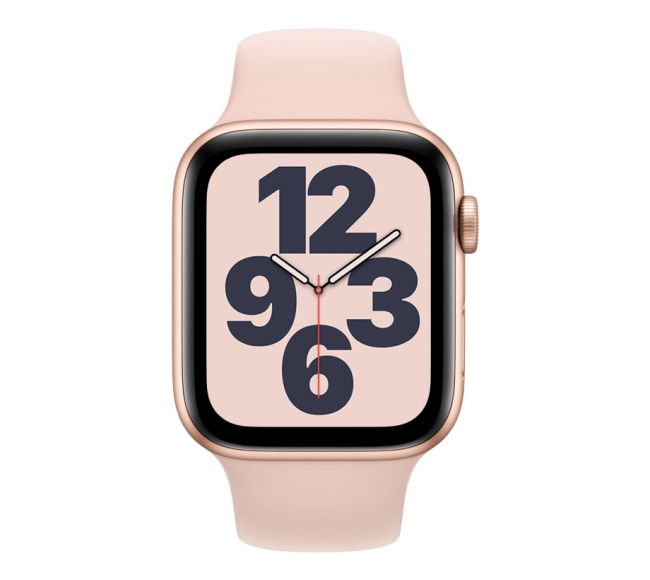 Apple Watch Series SE GPS, 40mm Gold Aluminium Case with Pink Sand Sport Band (MYDN2)