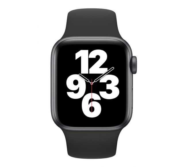 Apple Watch Series SE GPS, 44mm Space Gray Aluminium Case with Black Sport Band (MYDT2)