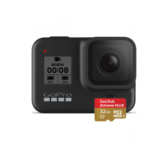 GoPro HERO 8 Black (CHDSB-801) + Карта памяти 32Gb